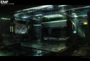 Cyberpunk hacker home by alexdrummo