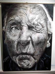 old man - oil painting