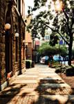 Quaint Downtown Sidewalk