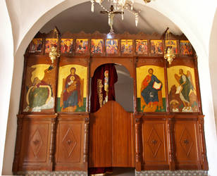 Iconostasis at Agios Elias by alimuse
