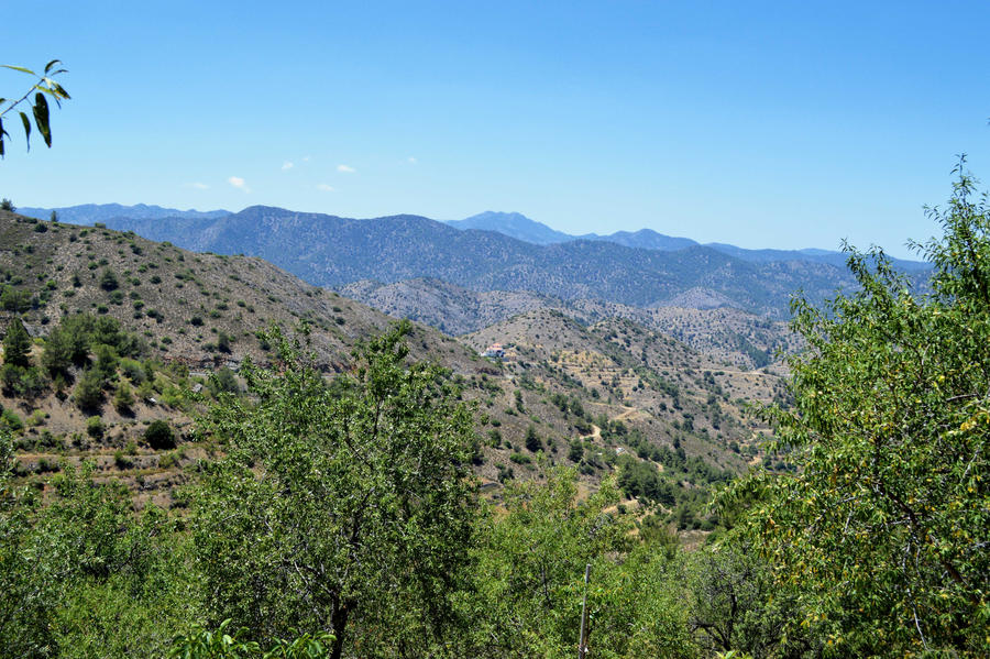 Mountain View from Fikardou, Cyprus by alimuse
