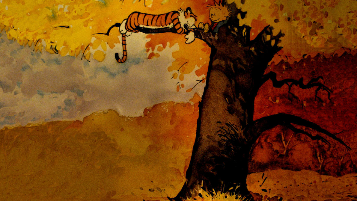 calvin and hobbes fall by seclairty31