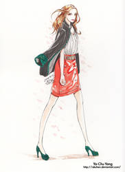 fashion Design #Coat and skirt by Akuhen