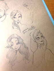 Drew my classmates in the style of Frozen!