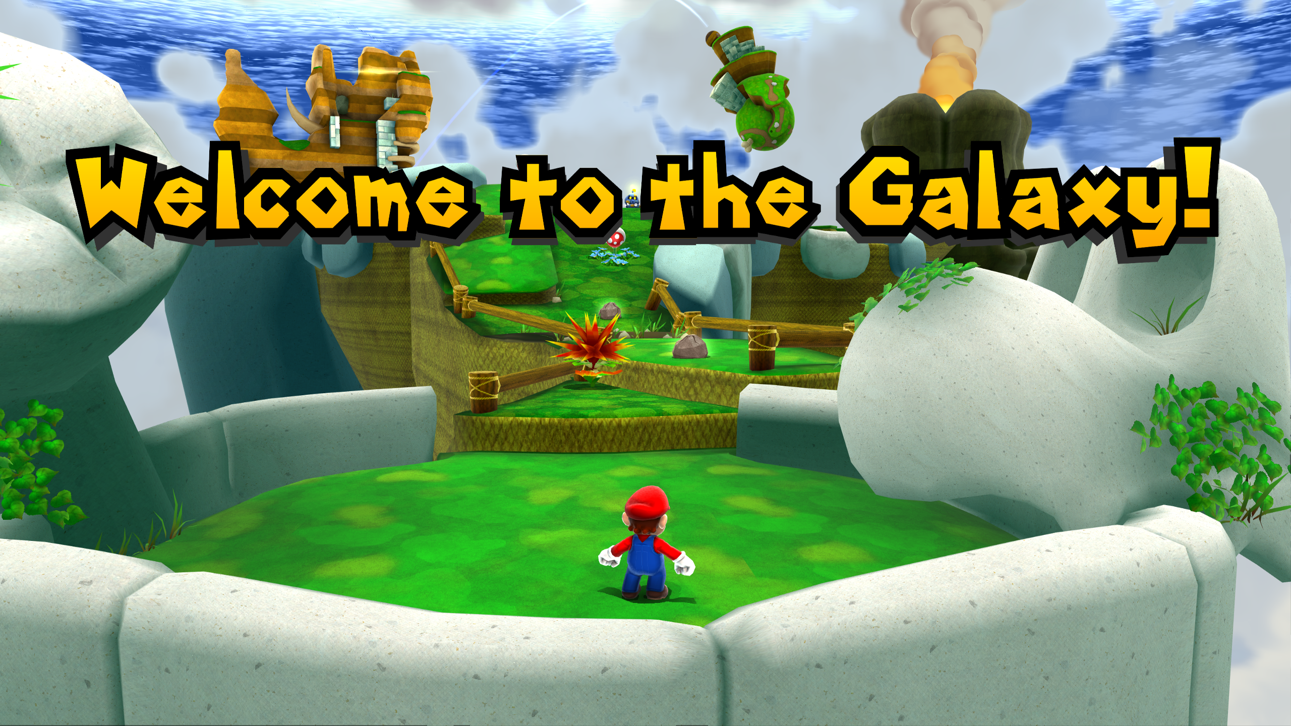 Super Mario Galaxy 2 HD Texture Mod