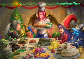 Merry Christmas  Happy New Year2015 by blackwings736