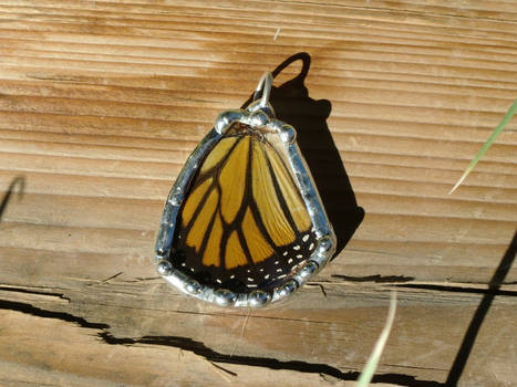 Soldered Monarch Wing Pendant