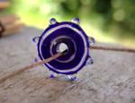 Purple Polymer Clay Disc Bead