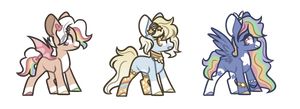 rainbow themed ponies adopts [closed]