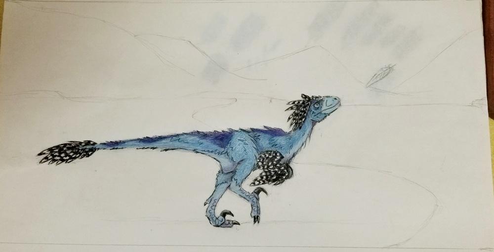 Deinonychus WIP by Bluecrest-Rubenaris