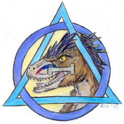 Theta Delta Utahraptor by Bluecrest-Rubenaris