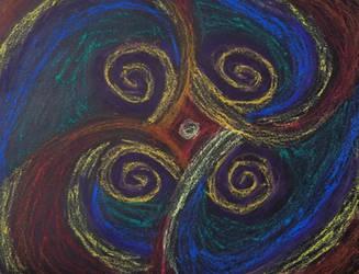 Oil pastel - twirlies by Bluecrest-Rubenaris