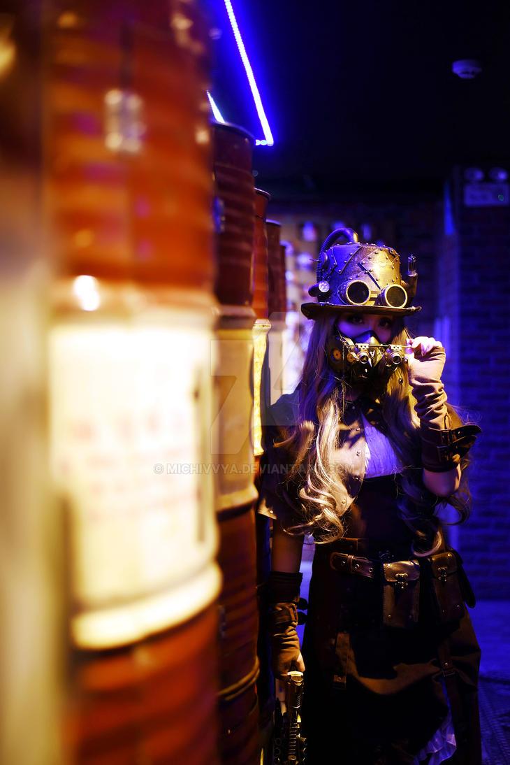 steam punk girl by michivvya