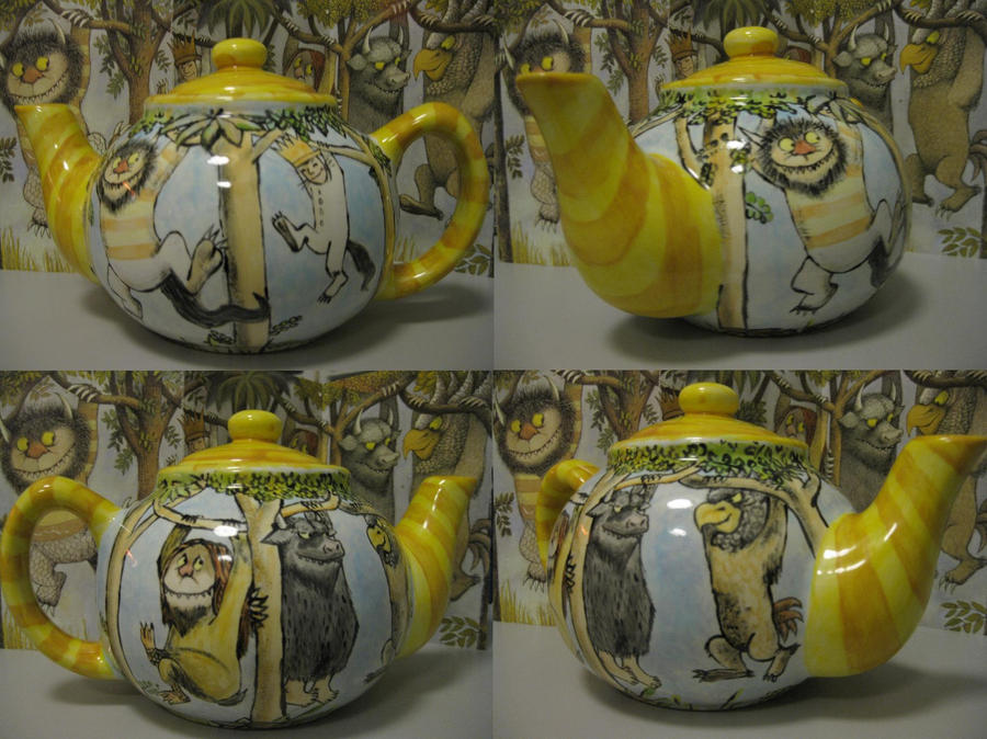 WHERE THE WILD THINGS teapot by gardengnome69