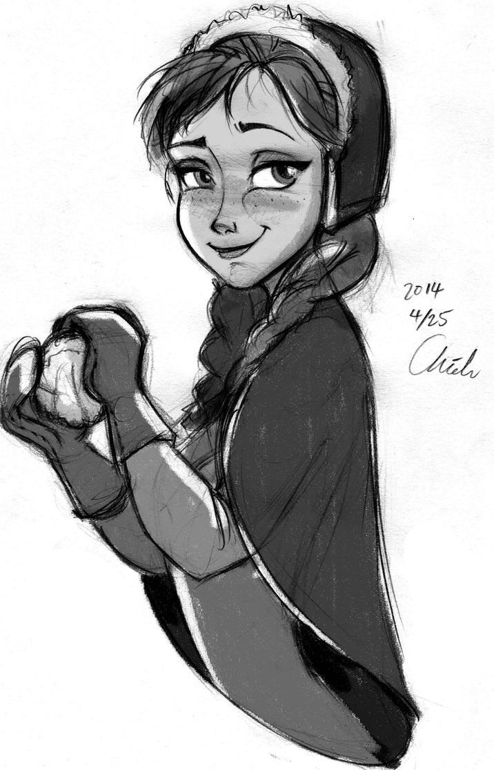 Disney-Frozen Anna snowball by ChiehChen