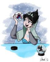 Disney Frozen Evil Elsa's Snow Globe without Title by ChiehChen