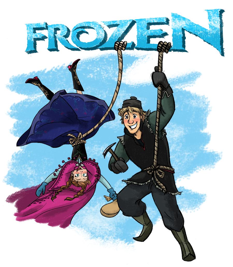 Disney-Frozen Anna and Kristoff  Climbing by ChiehChen
