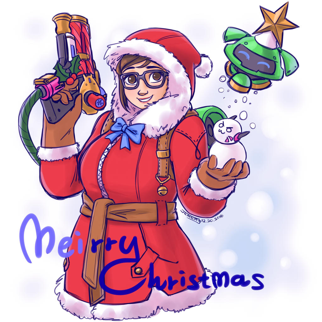 Overwatch meirry christmas by chiehchen on deviantart - Overwatch christmas wallpaper ...