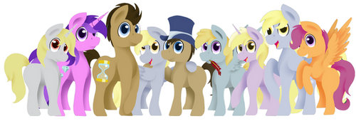 Request: Whooves Family by FlashBrush