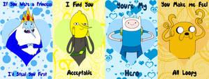 Adventure Time Guys Valentine's Cards