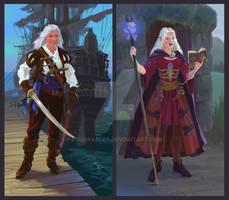 Pirat and Warlock by Lyubavalea