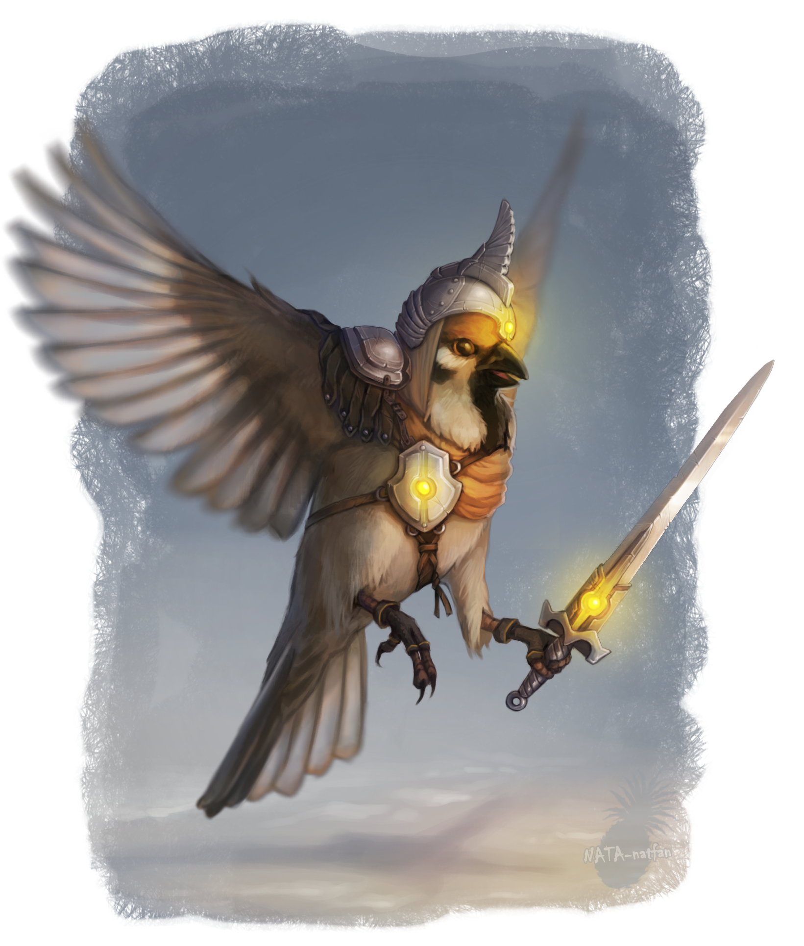 Warrior Sparrow by NATAnatfan
