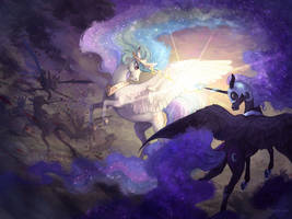 The battle between the Sun and the Moon by NATAnatfan