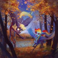 Derpy and Dashie by NATAnatfan