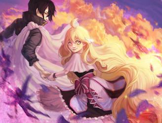 Zeref and Mavis: The last time I see fairys by NATAnatfan
