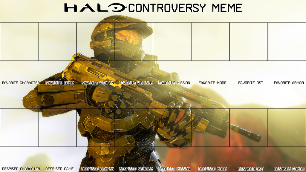Halo Controversy Meme Blank Template New By Fred 104