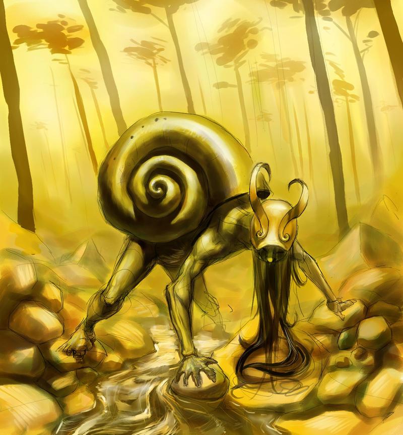 A snail by maCGot