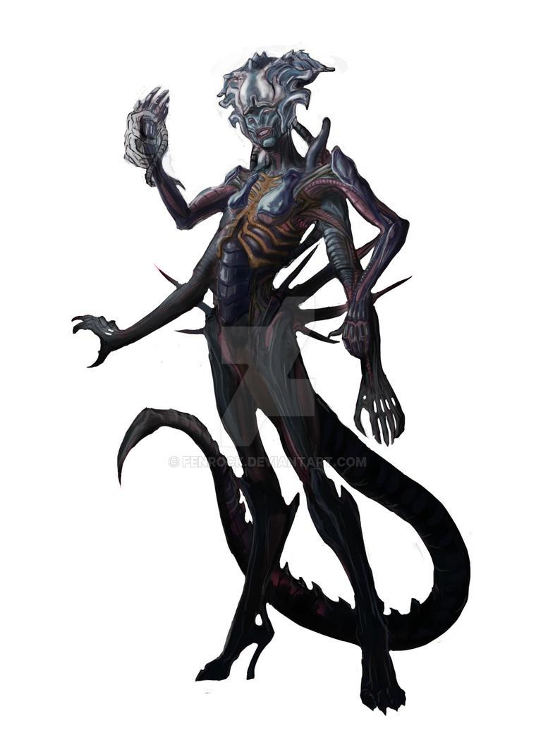 Alien Queen - Humanoid - Fan Art by Fenrock on DeviantArt