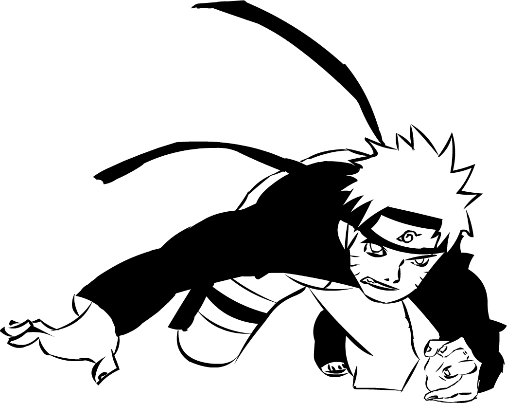 Naruto Black And White By XBiRRO On DeviantArt
