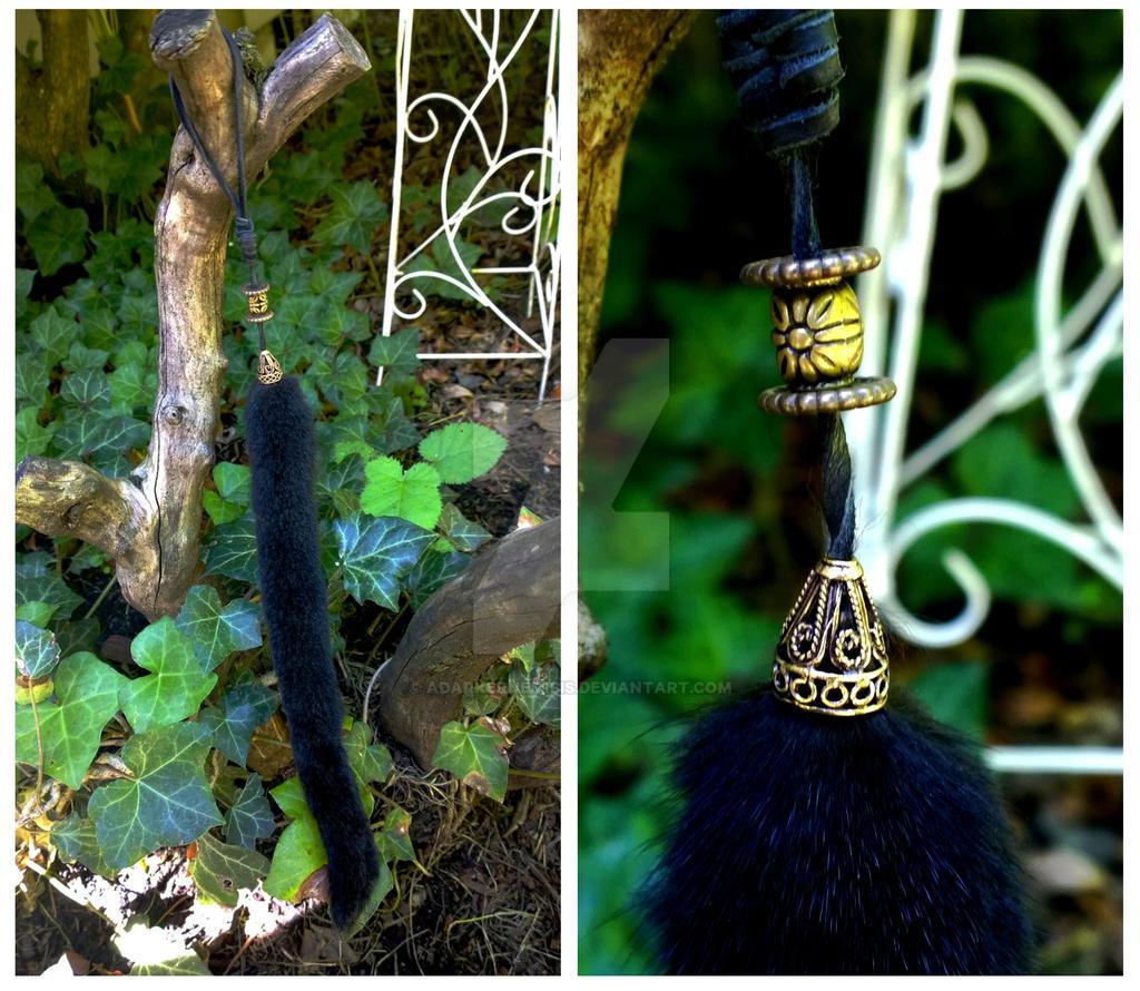 brass bead mink Charm by AdarkerNEMISIS