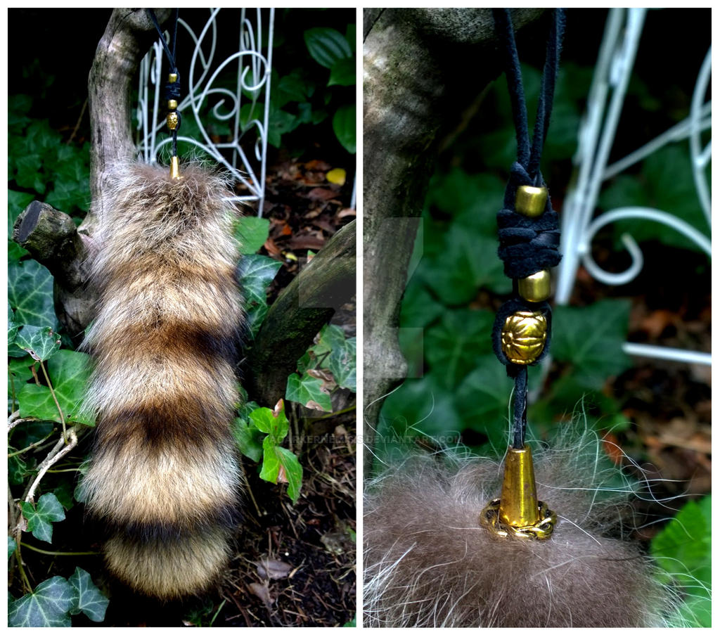 Raccoon Tail Pendents Gold by AdarkerNEMISIS