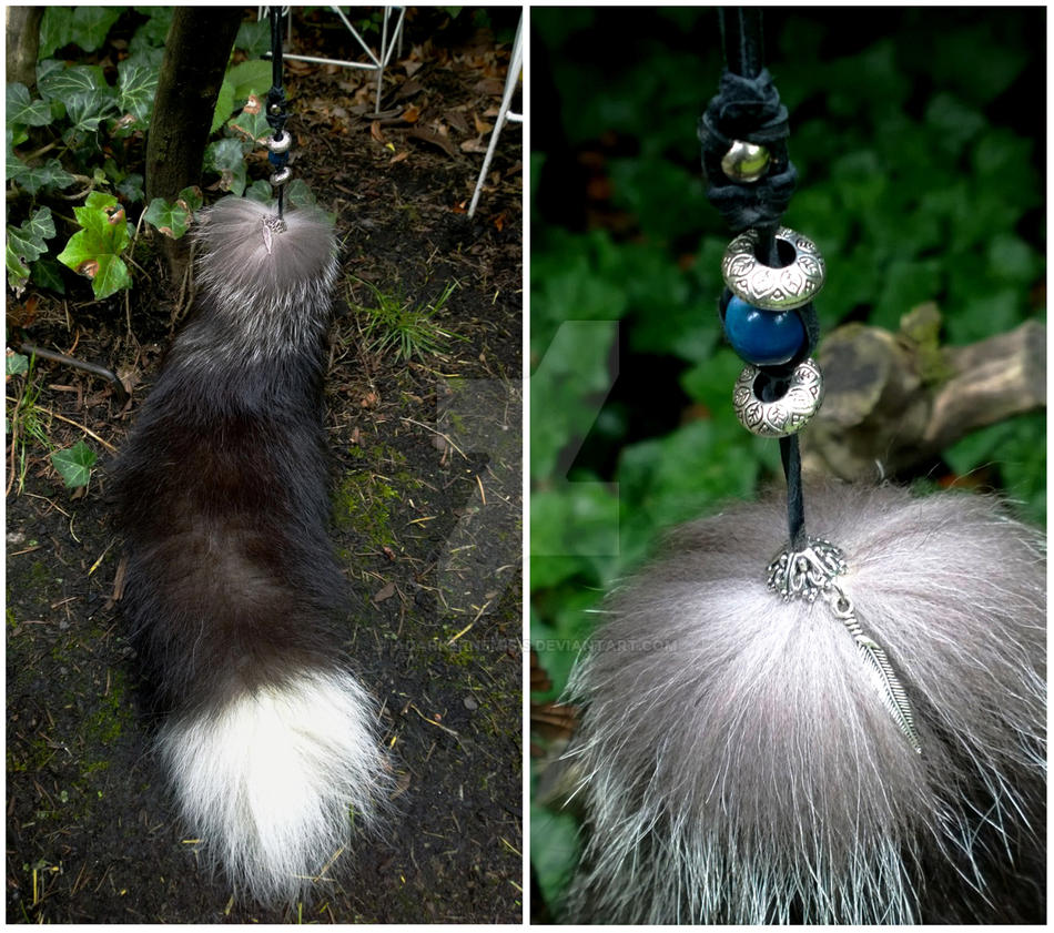 Silver fox tail Charm by AdarkerNEMISIS