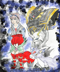 Digimon Alphamons Raising Part 3 Colored Front by ascram
