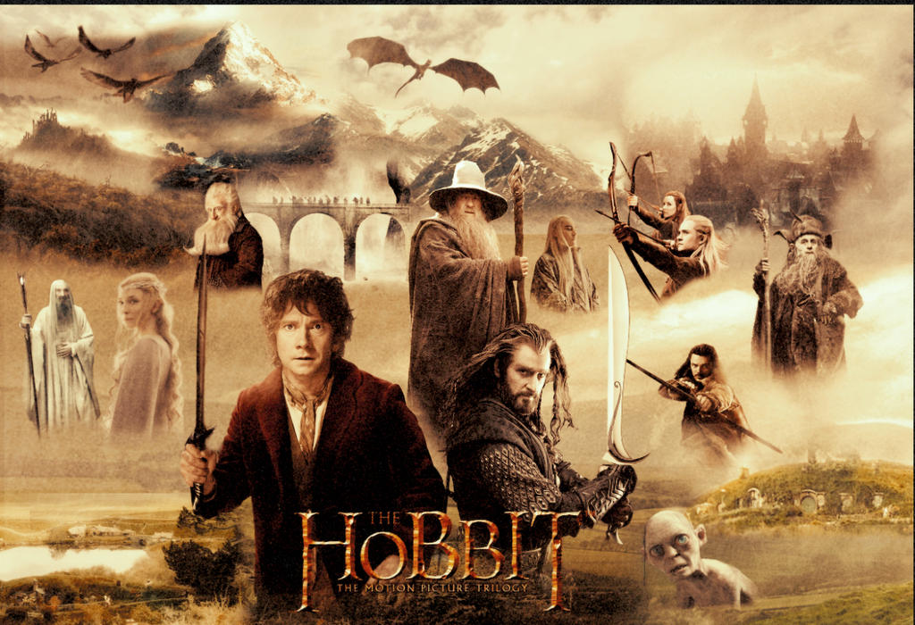 The Hobbit - The Motion Picture Trilogy Poster by ...