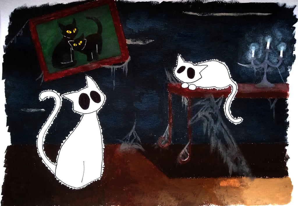 Ghost Cats by Jupiter9099