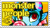 Monster People Stamp