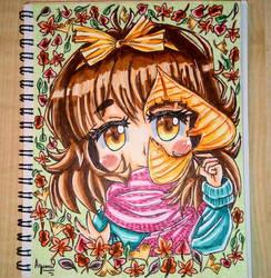 Cute Chibigirl [kawaii, chibi, autumn]