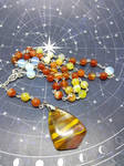 Pagan prayer beads Red fire Cherry Quartz rosary