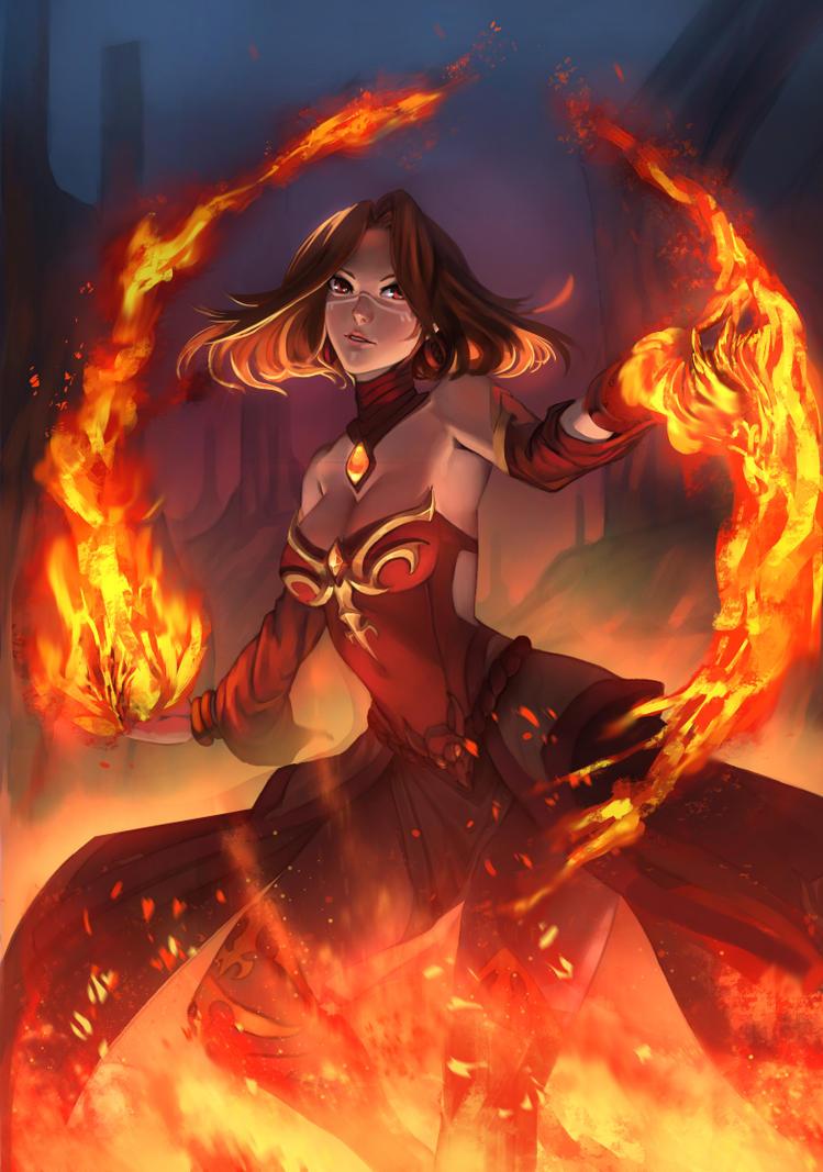Lina fire fox dota 2 by vertry on DeviantArt