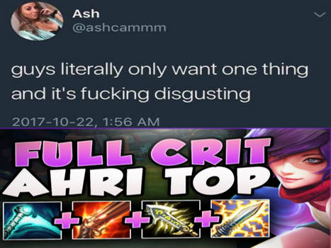 Guys literally only want one thing