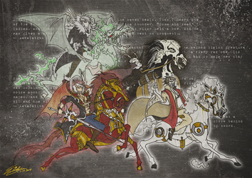 The Four Horsemen of the Apocalypse by iPWNoobs