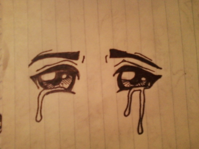 Anime eyes crying by ladylaveen