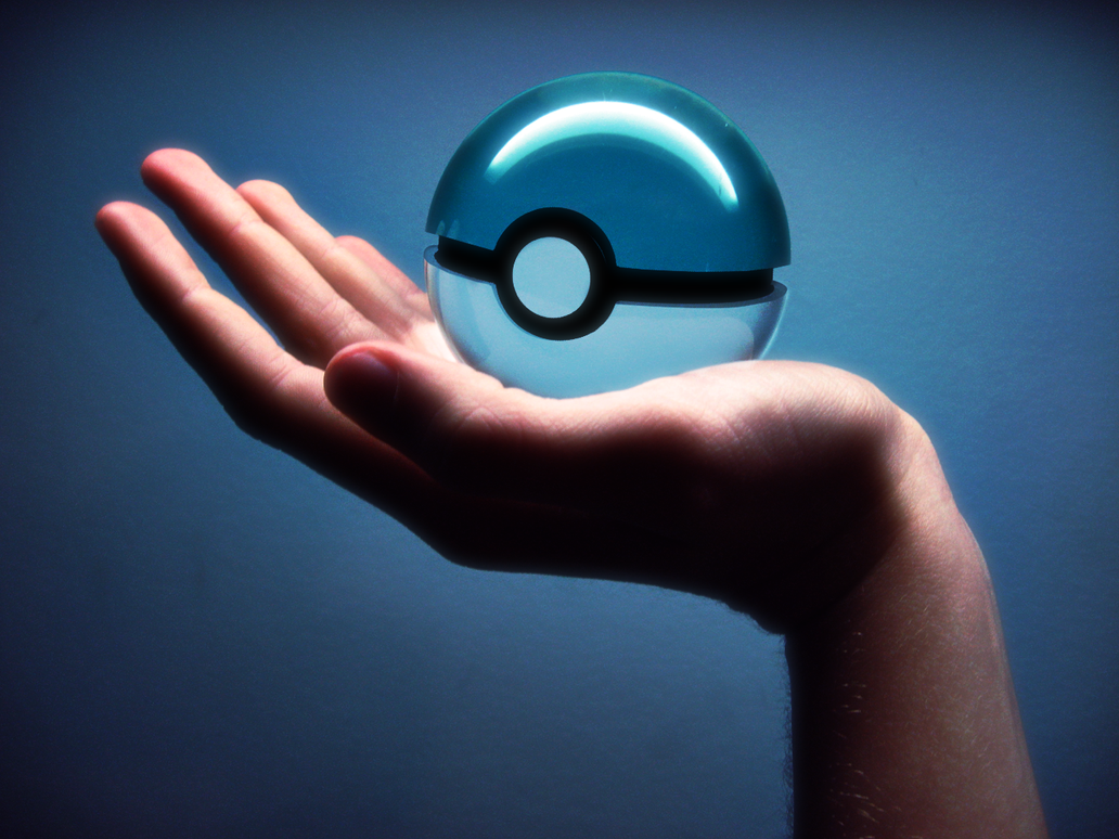 Aqua Pokeball by Marzarret