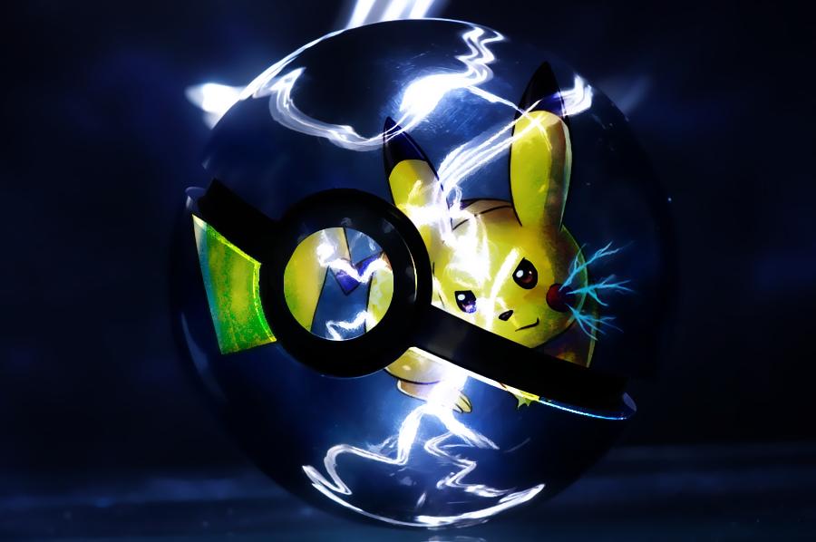 Pikachu Pokeball by Marzarret