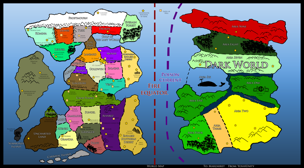 World Map by Marzarret