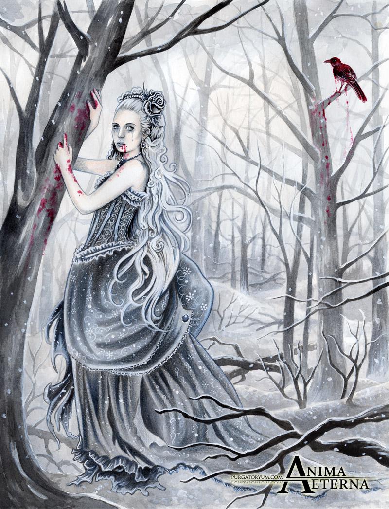 Loneliness shared   Yari   My_bleeding_nightingale_by_animaeterna-d3cyte2